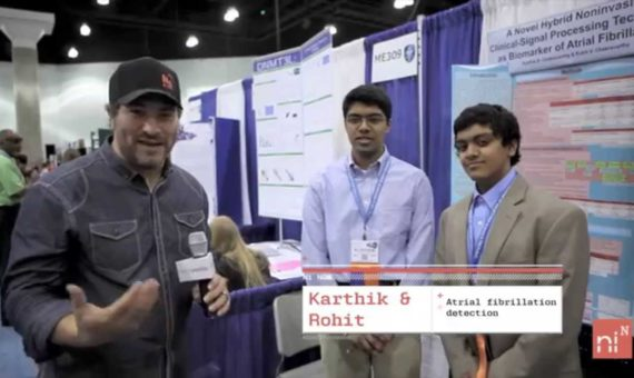 Elliot Interviews Teen Heart-Savers at Intel's Science Fair
